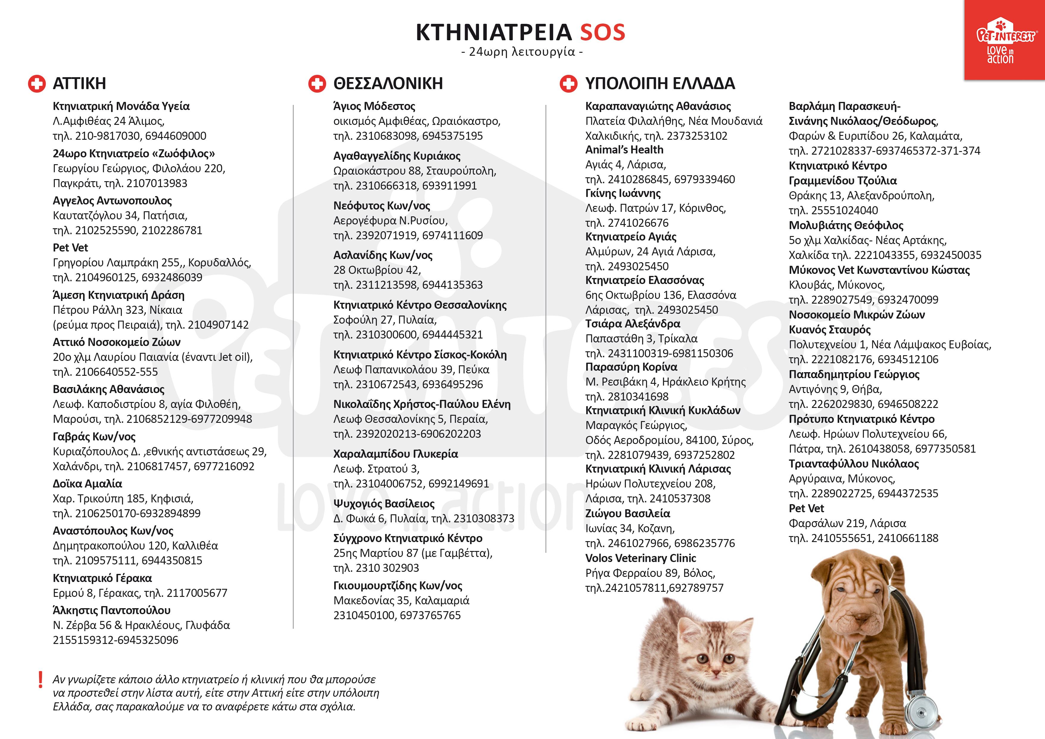 Εφημερεύοντα κτηνιατρεία θεσσαλονικη, Ελλάδα, viral